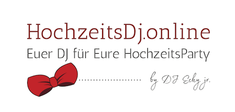 Die DJ mit der Roten Fliege für eure Hochzeitsfeier – Hochzeits DJ mit Top Referenzen Logo
